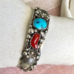 Navajo Rose Castillo Sterling Turquoise Bracelet